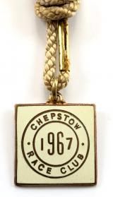 1967 Chepstow Race Club horse racing badge