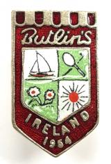 Butlins 1954 Mosney Ireland holiday camp red badge