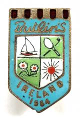 Butlins 1954 Mosney Ireland holiday camp light blue badge