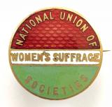 National Union of Women's Suffrage Societies NUWSS Suffragists badge