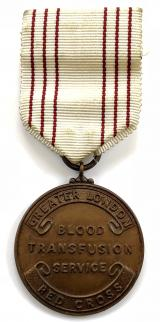 British Red Cross Society GREATER LONDON blood transfusion medal
