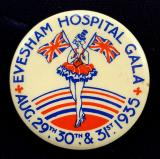 Evesham Hospital Gala 1935 celluloid tin button badge
