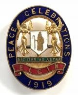 WW1 Elgin Peace Celebrations 1919 badge