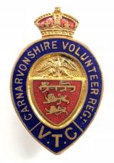 WW1 Carnarvonshire Volunteer Regiment VTC badge