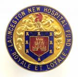 Launceston New Hospital Fund badge Cornwall