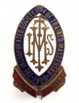 The Incorporated Society of Trained Masseuses nurse badge c1900 -1920