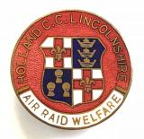 WW2 Holland County Council Lincolnshire air raid welfare badge
