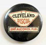 Cleveland Petroleum Company advertising celluloid tin button badge