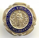 General Nursing Council State Registered Nurse 1938 silver SRN badge