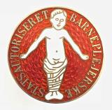 Statsautoriseret Barneplejerske State Authorised Child Nurse silver badge Danish