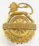 British Road Services BRS lorry truck transport drivers cap badge