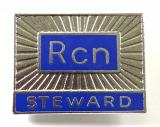 Royal College of Nursing RCN STEWARD union badge