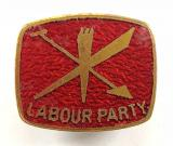 Labour Political Party supporters enamel badge circa 1960s