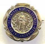 General Nursing Council State Registered Nurse 1928 silver SRN badge