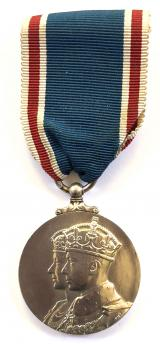 Coronation Medal 1937 mounted for wearing