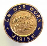WW1 Cochrane & Co Ltd shipbuilders 1915 on war service badge