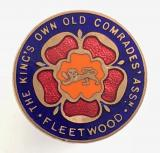 The King's Own Old Comrades Association Fleetwood OCA badge