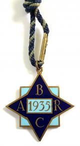 Brooklands Automobile Racing Club 1935 BARC membership badge