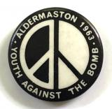Campaign for Nuclear Disarmament ban the bomb CND badge