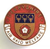 Derbyshire air raid welfare rest centre home front badge