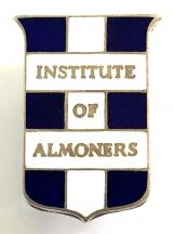 Institute of Almoners 1950 hospital silver union badge