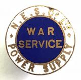 WW1 N.E.S.Co Ltd Power Supply on war service badge