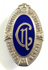 The College of Nursing silver nurses badge
