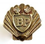 Shell-Mex and BP Ltd 1956 gold diamond long service badge