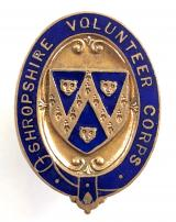 WW1 Shropshire Volunteer Training Corps VTC numbered badge