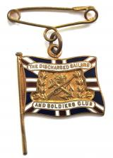 WW1 The Discharged Sailors and Soldiers Club fundraiser badge