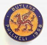 Butlins 1958 Pwllheli holiday camp Welsh red dragon badge
