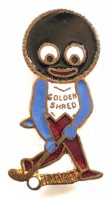 Robertsons Golly hockey player white waistcoat badge by R.E.V.Gomm