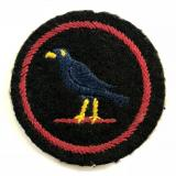 Girl Guides Blackbird patrol emblem felt cloth badge