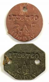 WW2 Royal Air Force RAF identification pair of dog tags