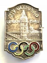 1948 London Olympic Games supporters badge
