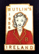 Butlins 1956 Mosney Ireland holiday camp Redcoat badge