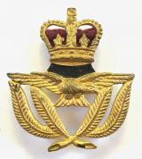 EIIR Royal Air Force RAF warrant officer cap badge