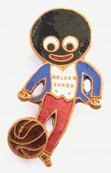 Robertsons Golly footballer white waistcoat advertising badge by MILLER