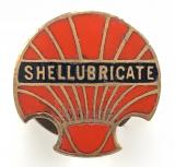 Shellubricate Shell Oil Company advertising badge circa 1920s
