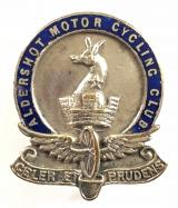 Aldershot Motor Cycling Club membership badge