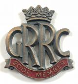 Goodwood Road Racing Club GRRC 2001 membership badge