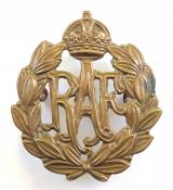 Royal Air Force brass other ranks RAF cap badge