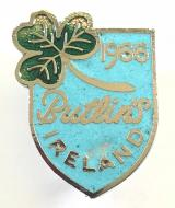 Butlins 1966 Mosney Ireland holiday camp shamrock shield badge