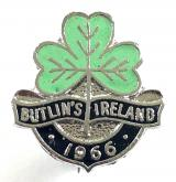 Butlins 1966 Mosney Ireland holiday camp shamrock badge