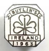 Butlins 1963 Mosney Ireland holiday camp shamrock badge