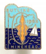 Butlins 1962 Minehead holiday camp lantern and yacht badge