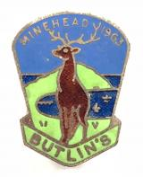 Butlins 1963 Minehead holiday camp stag badge