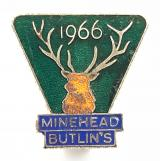 Butlins 1966 Minehead holiday camp magnificent stag's head badge