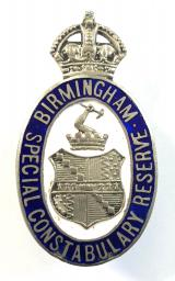 WW1 Birmingham Special Constabulary police reserve numbered badge