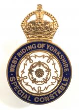 WW1 West Riding of Yorkshire Special Constable police badge